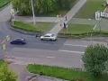 В Сосновоборске сотрудники ГИБДД проводят проверку по факту ДТП на пешеходном переходе (ВИДЕО)